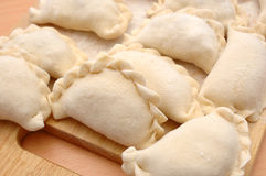 Raw curds (fruit dumplings). Stock Photo