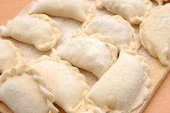 Raw curds (fruit dumplings). Royalty Free Stock Photo