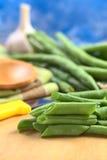 Raw Cut Green Beans Stock Photo