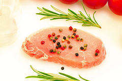 Raw cutlet of pork Royalty Free Stock Image