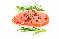 Raw cutlet of pork Royalty Free Stock Photography