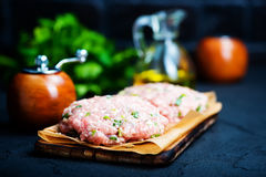 Raw cutlets Stock Photography
