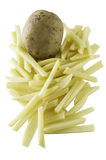 Raw cutted french frie Royalty Free Stock Photos