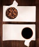Raw dark coffee Royalty Free Stock Photography