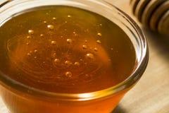 Raw Dark Organic BuckWheat Honey royalty free stock image