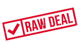 Raw Deal rubber stamp Royalty Free Stock Photo