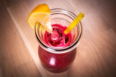 Raw detox beetroot and carrot juice Stock Photo
