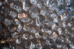 Raw diamond quartz detail. Close up Royalty Free Stock Photos