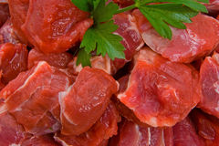 Raw Diced Beef Stock Photos