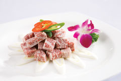 Raw-diced beef Royalty Free Stock Photo