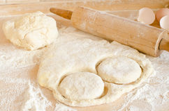 Raw dough for biscuits Stock Images