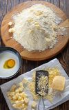 Raw dough for classic english scones royalty free stock photo