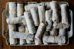 Raw Dough wrapped for pastry borek Royalty Free Stock Photos