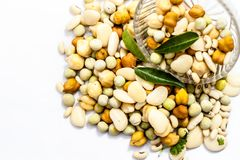 Mixed pulses with some Indian and asian popular lentlis. royalty free stock photo