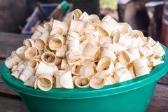 Raw dried ring banana chips. Royalty Free Stock Photo