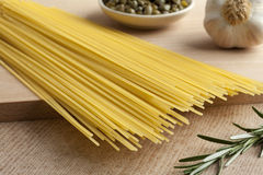 Raw dried spaghetti Royalty Free Stock Photography