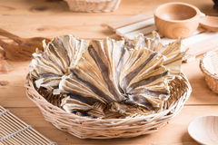 Raw dried sundried stingray radiating circular fish Royalty Free Stock Photos