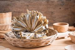 Raw dried sundried stingray radiating circular fish Royalty Free Stock Image