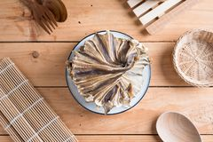 Raw dried sundried stingray radiating circular fish Stock Image