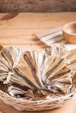 Raw dried sundried stingray radiating circular fish Stock Photo