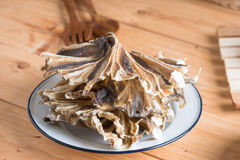 Raw dried sundried stingray radiating circular fish Stock Images