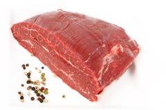 Raw dry aged flank steak. A piece of raw dry aged flank steak stock photo