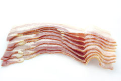 Raw dry-cured bacon Royalty Free Stock Images