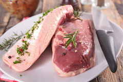Raw duck breast Royalty Free Stock Photography