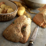 Raw duck foie gras. Food, gastronomy, cooking,cookery Stock Images