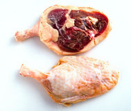Raw duck legs, isolated Stock Image