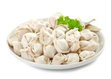 Raw dumplings Stock Photos