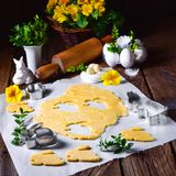 Raw Easter Cookies. A fresh Raw Easter Cookies Stock Photography
