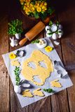 Raw Easter Cookies. A fresh Raw Easter Cookies Royalty Free Stock Photo