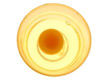 Raw egg. In a clear bowl Stock Photos