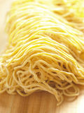 Raw egg noodles Royalty Free Stock Photography