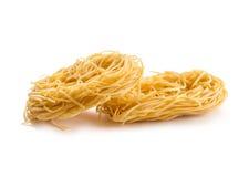 Raw egg noodles Royalty Free Stock Photos
