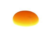 Raw egg yolk. On white background Royalty Free Stock Photo
