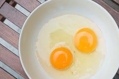 Raw egg yolk Royalty Free Stock Photos