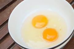 Raw egg yolk Stock Photography