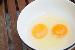Raw egg yolk Royalty Free Stock Photo