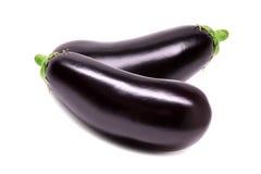 Raw eggplant isolated on white background Stock Image