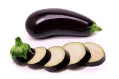 Raw eggplant isolated on white background Royalty Free Stock Photography