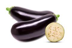 Raw eggplant isolated on white background Stock Photo