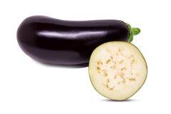 Raw eggplant isolated on white background Stock Images