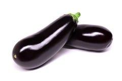 Raw eggplant isolated on white background Royalty Free Stock Photo