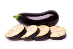 Raw eggplant isolated on white background Royalty Free Stock Image