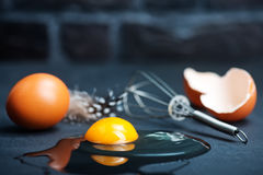 Raw eggs Stock Photography