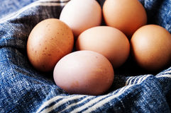 Raw eggs close up Stock Photo