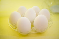 Raw eggs in the package Royalty Free Stock Photos