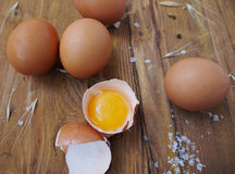 Raw eggs ready for cooking. Spain Stock Photo